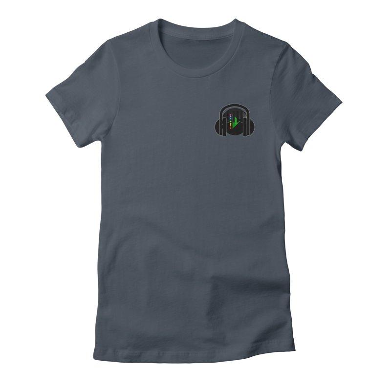 Stern Beats (Small Upper Left Corner) Women's T-Shirt by Vegetable Conspiracies