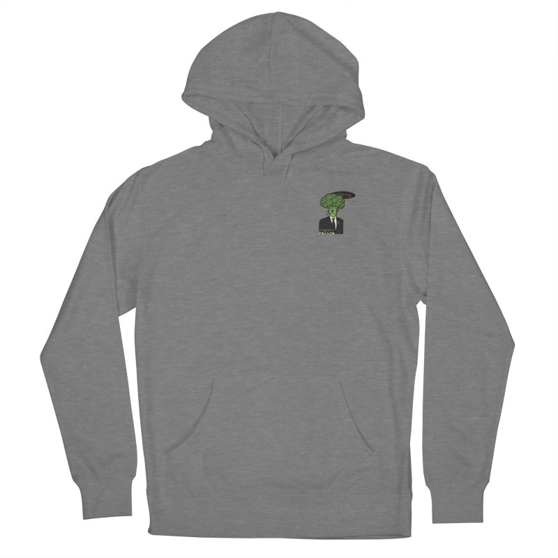 Vegetable Police (Broccoli Man Small Upper Left Corner) Women's Pullover Hoody by Vegetable Conspiracies