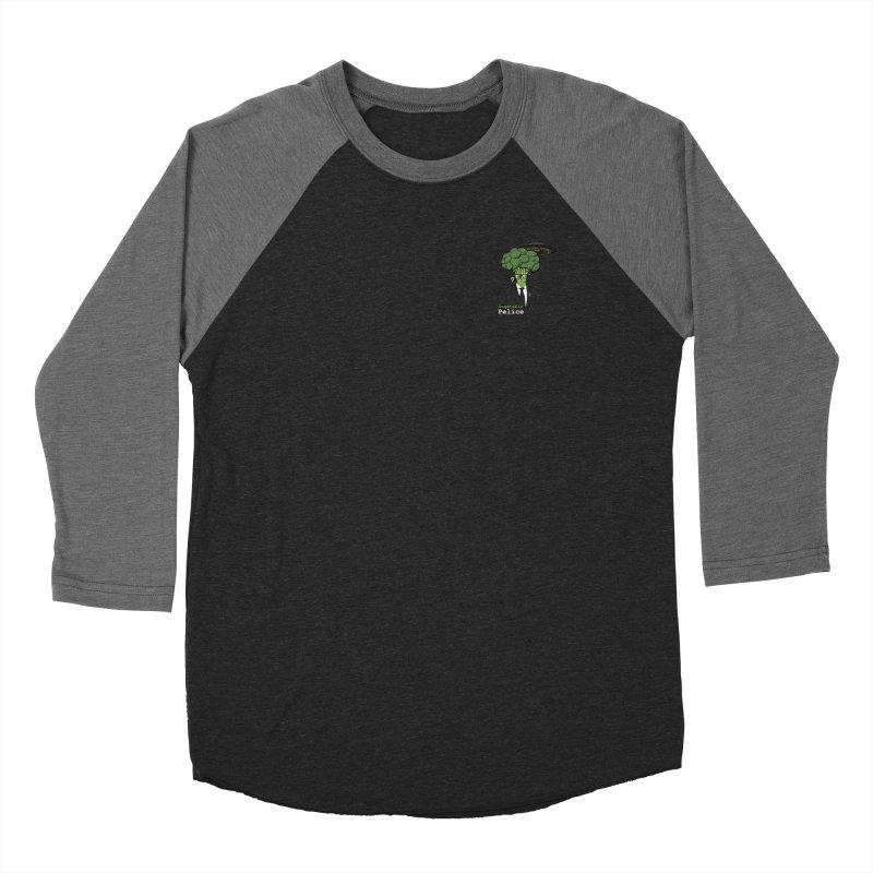 Vegetable Police (Broccoli Man Small Upper Left Corner) Women's Longsleeve T-Shirt by Vegetable Conspiracies