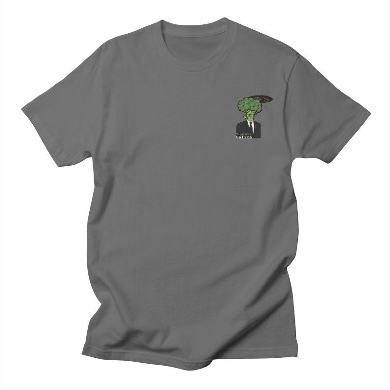 Vegetable Police (Broccoli Man Small Upper Left Corner) Men's T-Shirt by Vegetable Conspiracies