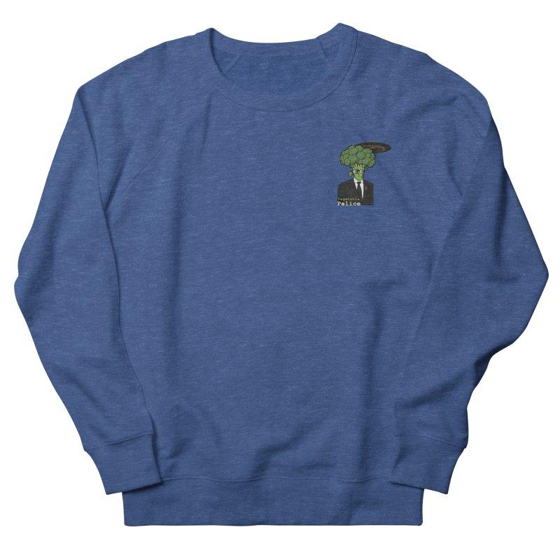 Vegetable Police (Broccoli Man Small Upper Left Corner) Women's Sweatshirt by Vegetable Conspiracies