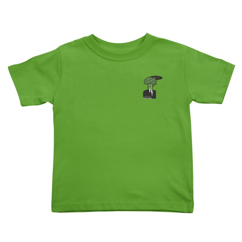 Vegetable Police (Broccoli Man Small Upper Left Corner) Kids Toddler T-Shirt by Vegetable Conspiracies