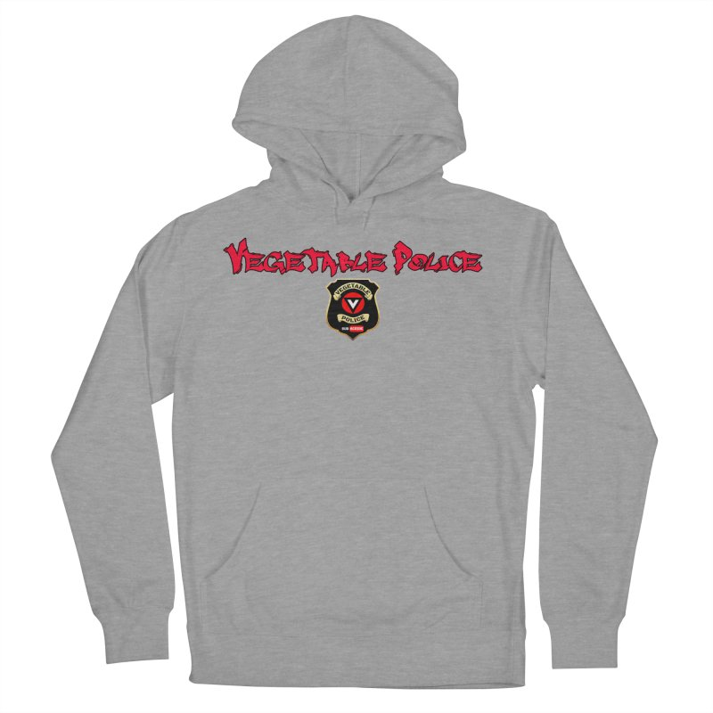 Vegetable Police (Red Graffiti) Men's Pullover Hoody by Vegetable Police