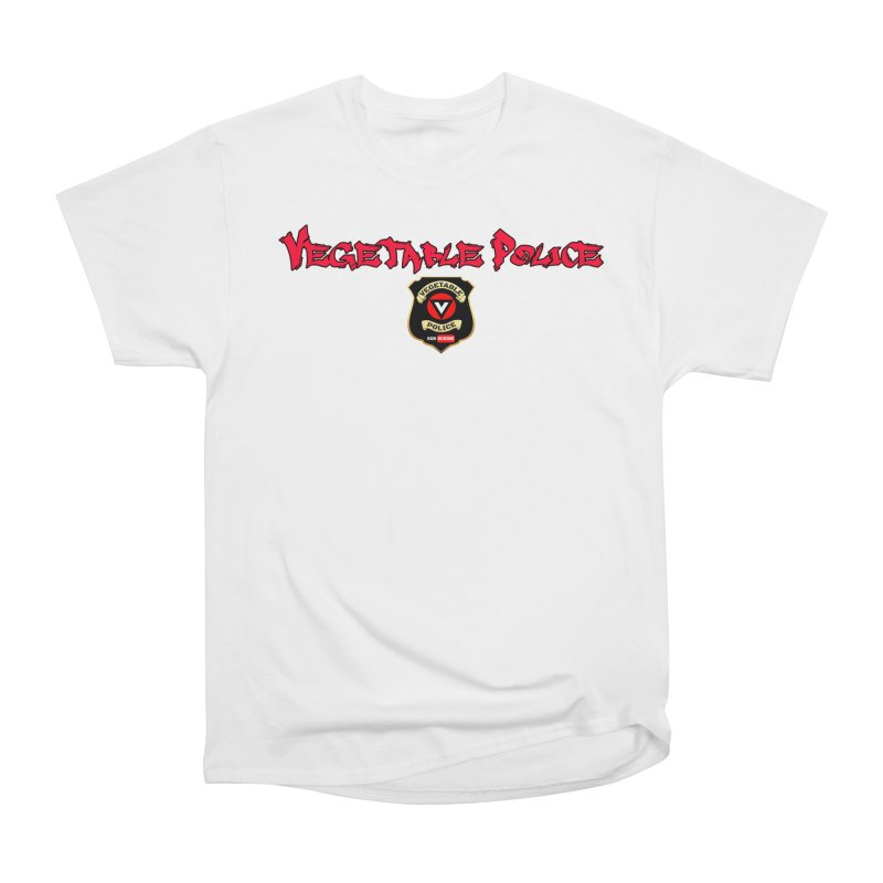Vegetable Police (Red Graffiti) Women's Classic Unisex T-Shirt by Vegetable Police