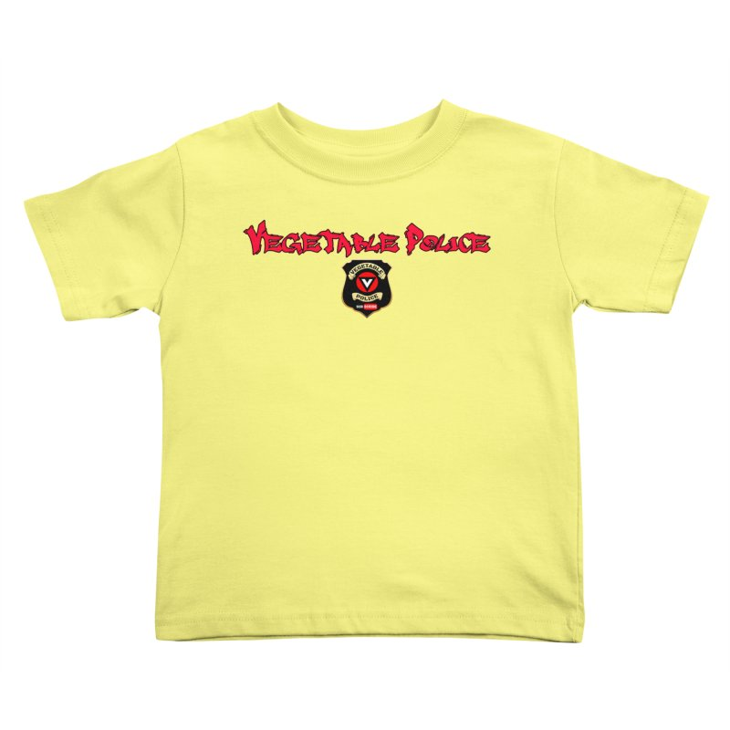 Vegetable Police (Red Graffiti) Kids Toddler T-Shirt by Vegetable Police