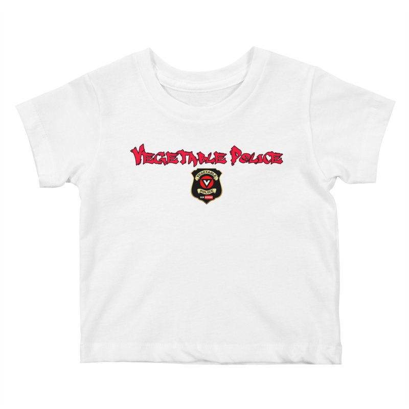 Vegetable Police (Red Graffiti) Kids Baby T-Shirt by Vegetable Police