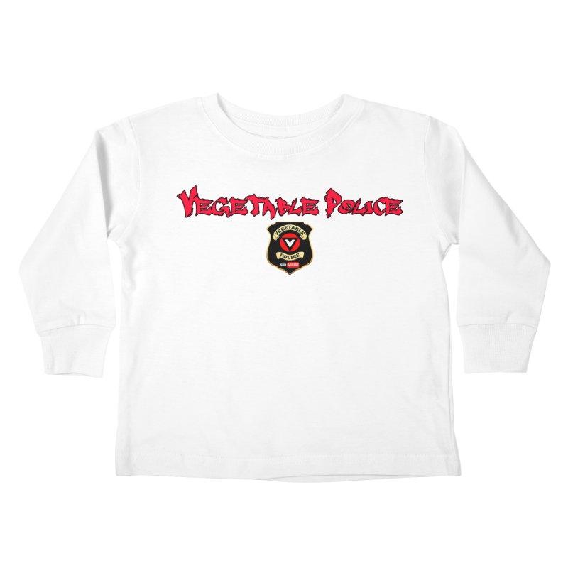 Vegetable Police (Red Graffiti) Kids Toddler Longsleeve T-Shirt by Vegetable Police