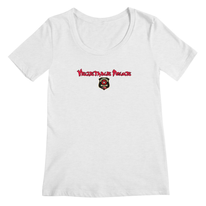 Vegetable Police (Red Graffiti) Women's Scoopneck by Vegetable Police