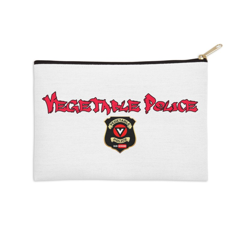 Vegetable Police (Red Graffiti) Accessories Zip Pouch by Vegetable Police
