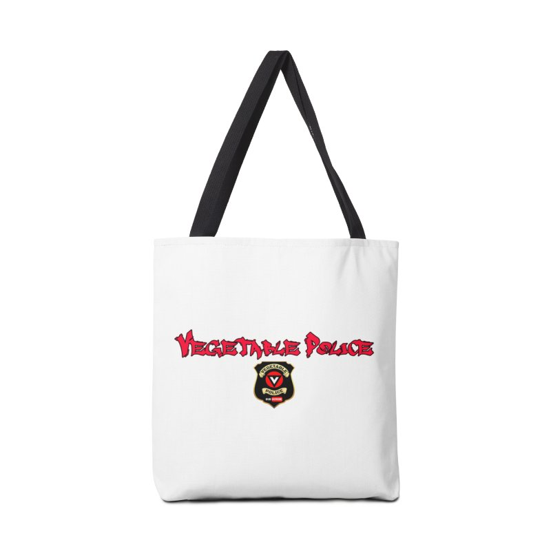 Vegetable Police (Red Graffiti) Accessories Bag by Vegetable Police