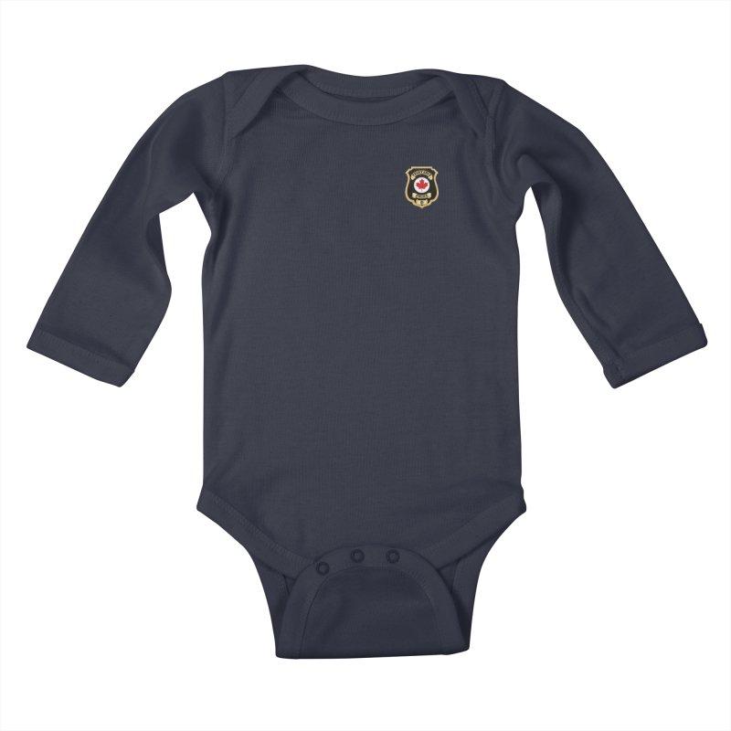 Vegetable Police Badge (New) Kids Baby Longsleeve Bodysuit by Vegetable Conspiracies