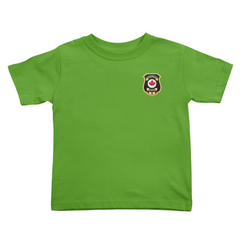 Vegetable Police Badge (New) Kids Toddler T-Shirt by Vegetable Conspiracies