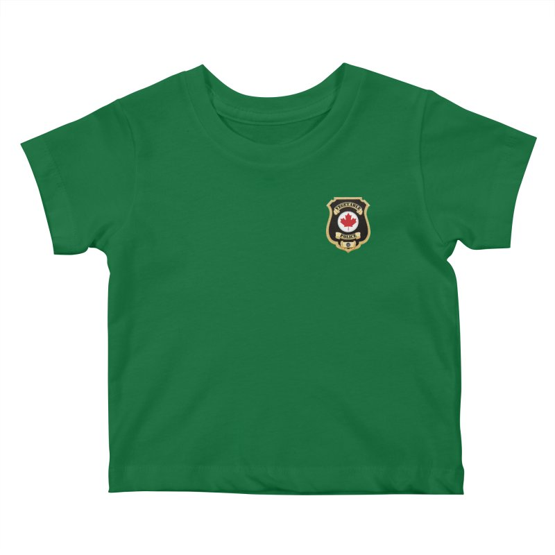 Vegetable Police Badge (New) Kids Baby T-Shirt by Vegetable Conspiracies