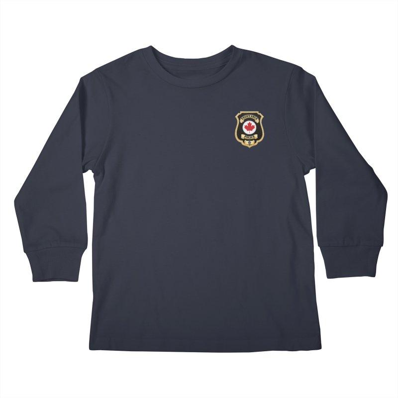 Vegetable Police Badge (New) Kids Longsleeve T-Shirt by Vegetable Conspiracies