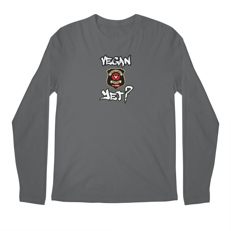 Vegan Yet? Men's Longsleeve T-Shirt by Vegetable Conspiracies