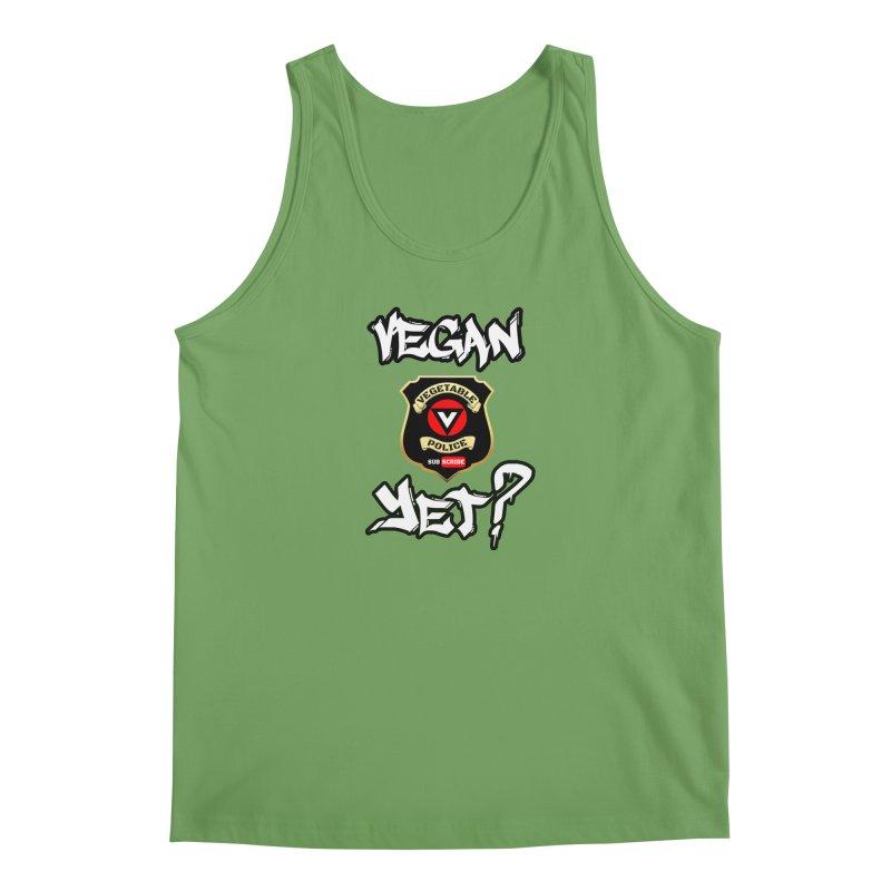 Vegan Yet? Men's Tank by Vegetable Conspiracies