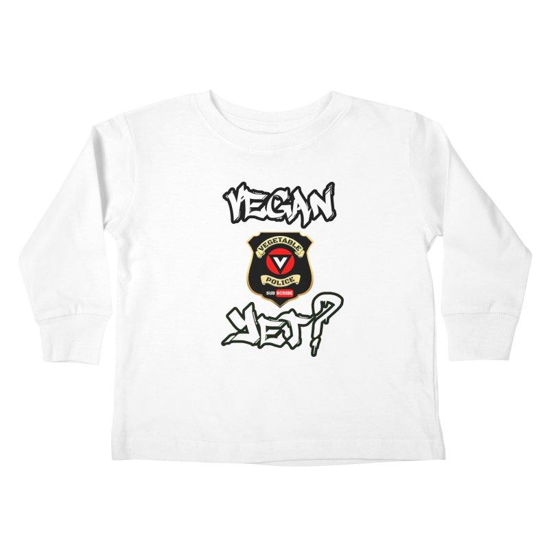 Vegan Yet? Kids Toddler Longsleeve T-Shirt by Vegetable Conspiracies