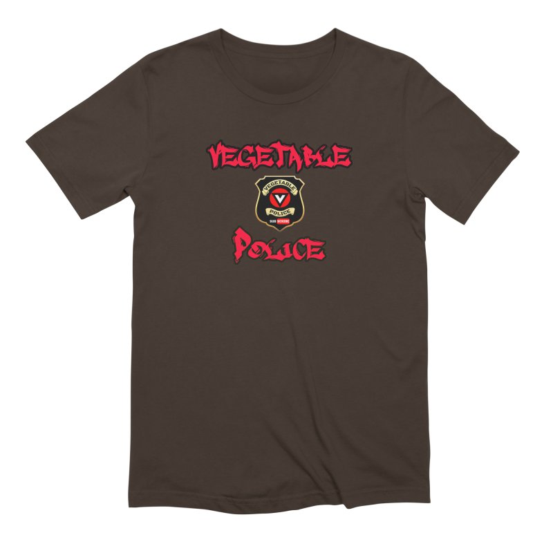 Vegetable Police Undercover (red) Men's T-Shirt by Vegetable Police