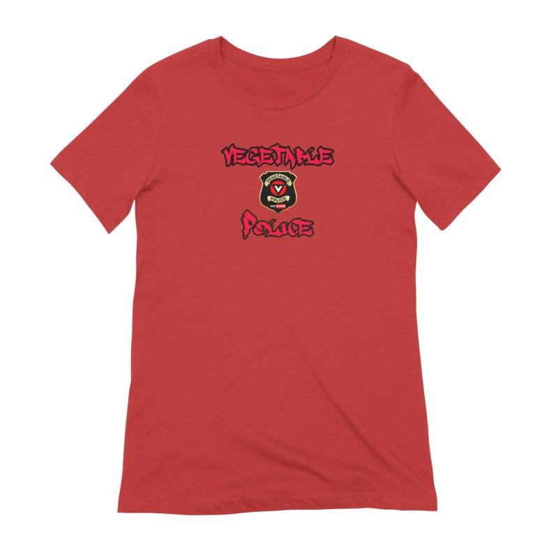 Vegetable Police Undercover (red) Women's Extra Soft T-Shirt by Vegetable Police