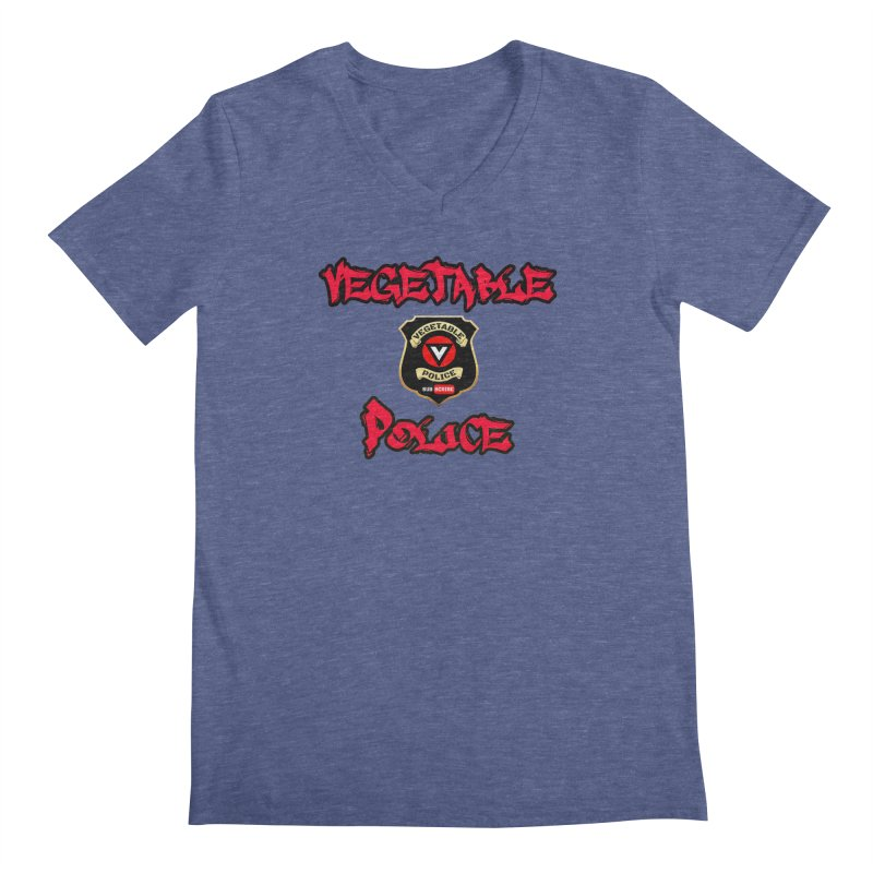 Vegetable Police Undercover (red) Men's V-Neck by Vegetable Police