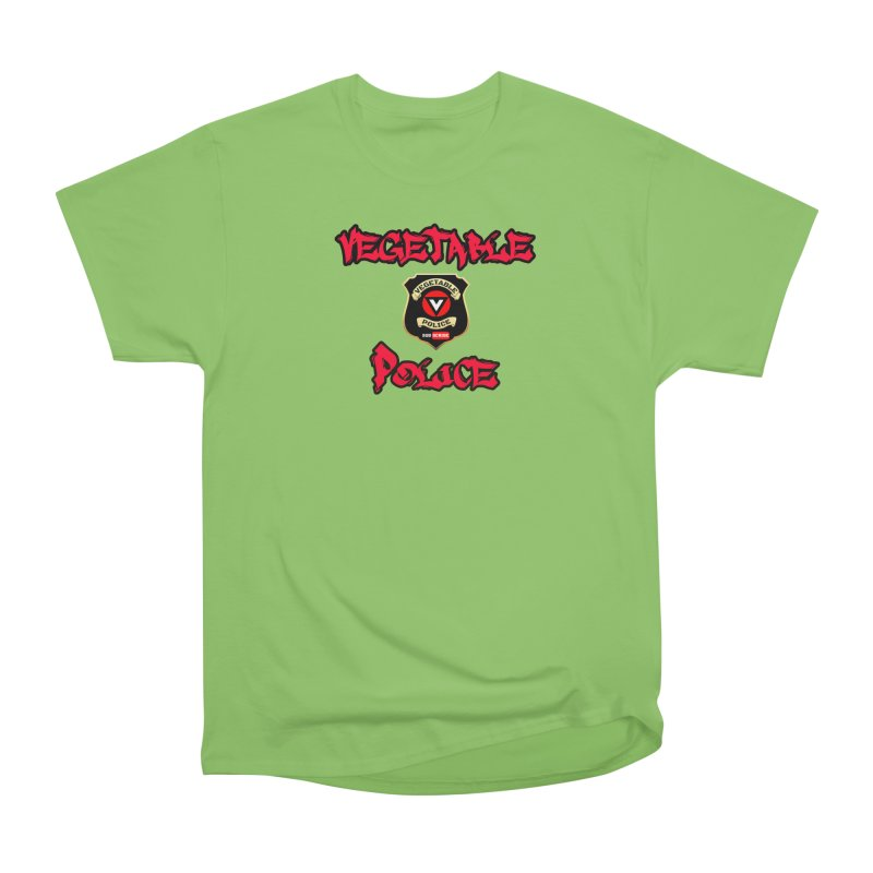 Vegetable Police Undercover (red) Women's Heavyweight Unisex T-Shirt by Vegetable Police