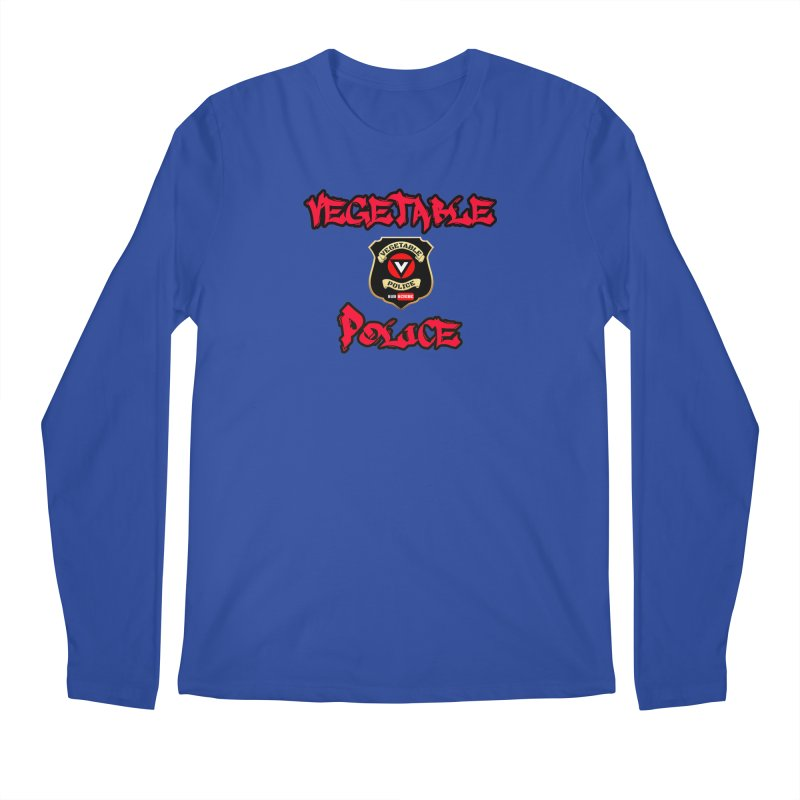 Vegetable Police Undercover (red) Men's Longsleeve T-Shirt by Vegetable Police