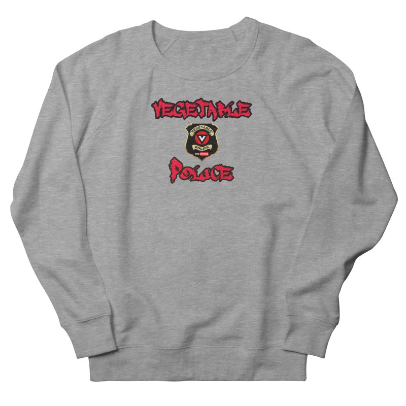 Vegetable Police Undercover (red) Men's French Terry Sweatshirt by Vegetable Police