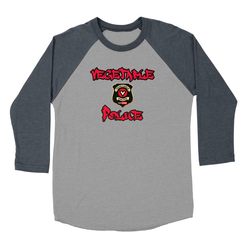 Vegetable Police Undercover (red) Women's Baseball Triblend Longsleeve T-Shirt by Vegetable Police