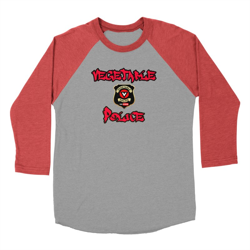 Vegetable Police Undercover (red) Men's Baseball Triblend Longsleeve T-Shirt by Vegetable Police