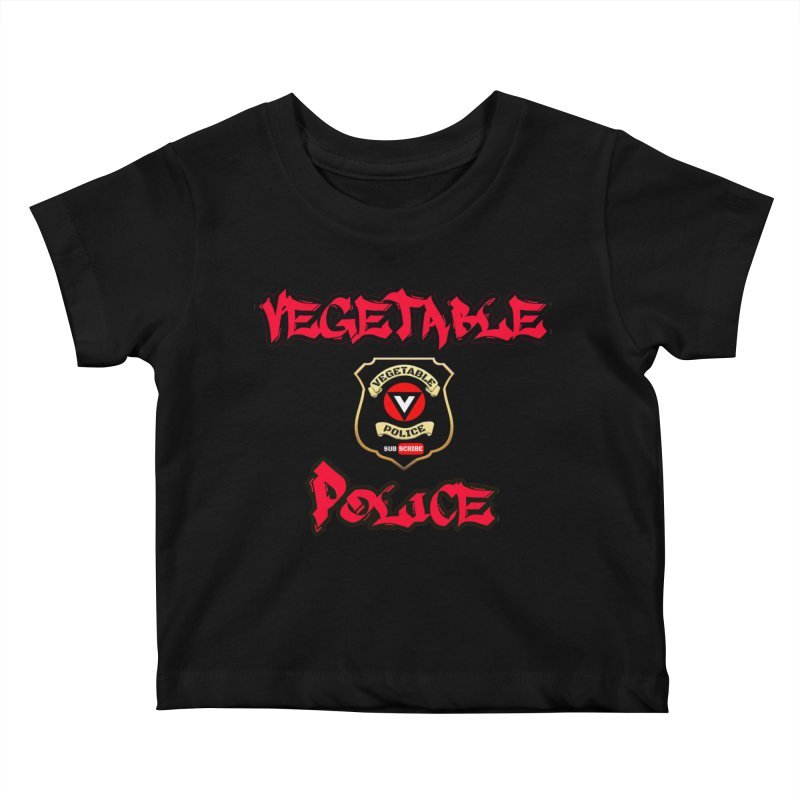 Vegetable Police Undercover (red) Kids Baby T-Shirt by Vegetable Police