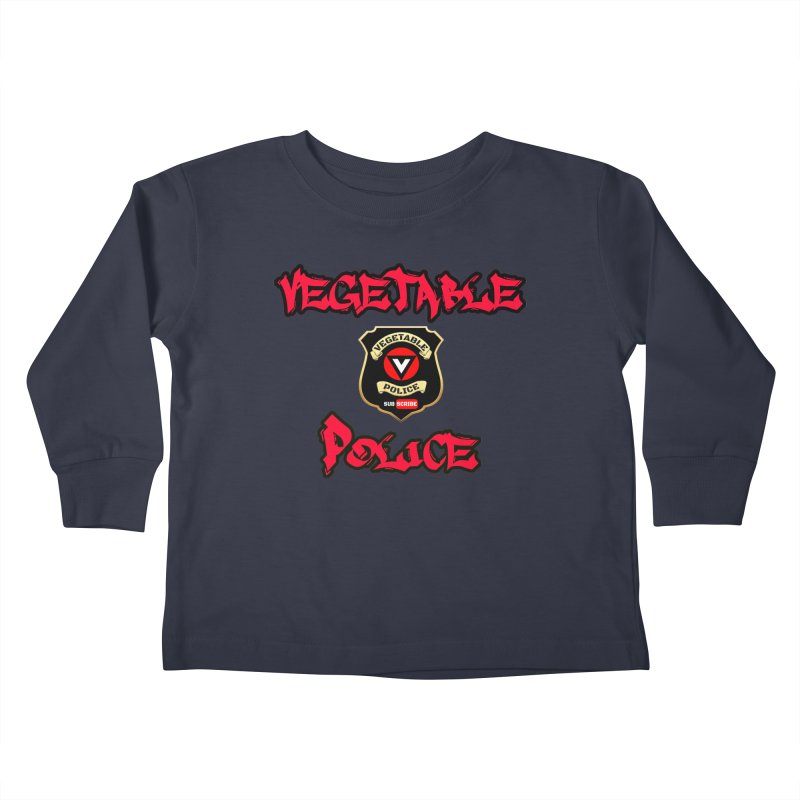 Vegetable Police Undercover (red) Kids Toddler Longsleeve T-Shirt by Vegetable Police