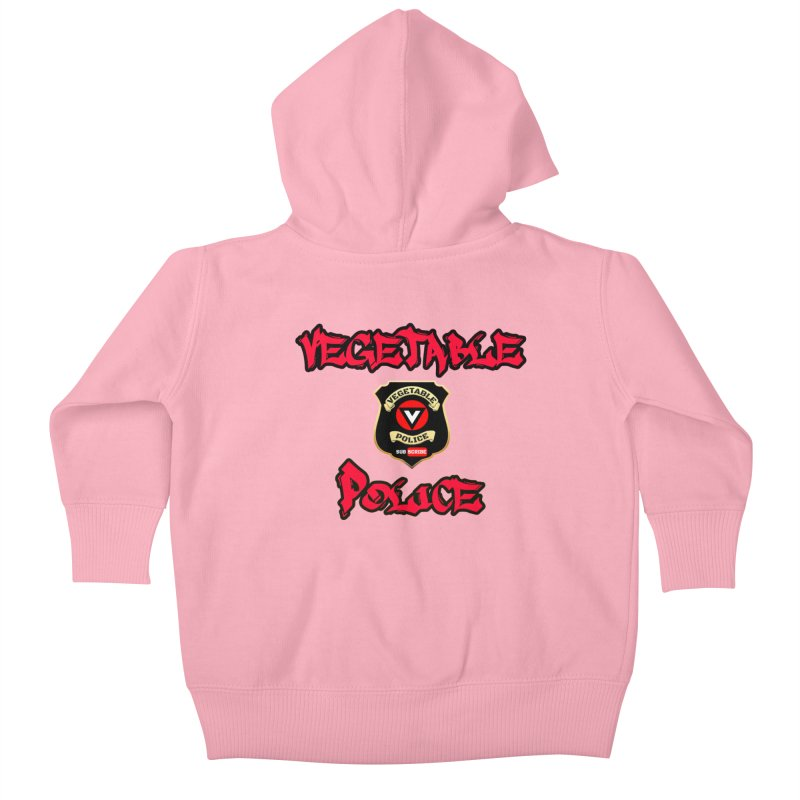 Vegetable Police Undercover (red) Kids Baby Zip-Up Hoody by Vegetable Police