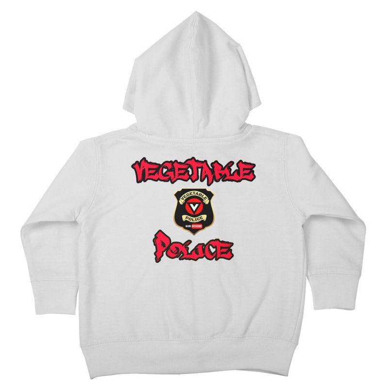 Vegetable Police Undercover (red) Kids Toddler Zip-Up Hoody by Vegetable Police