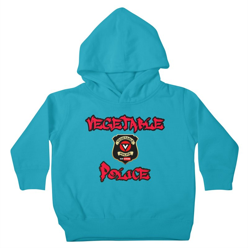 Vegetable Police Undercover (red) Kids Toddler Pullover Hoody by Vegetable Police