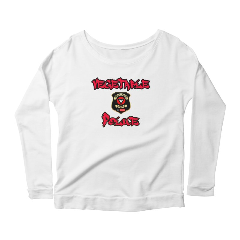 Vegetable Police Undercover (red) Women's Longsleeve T-Shirt by Vegetable Police