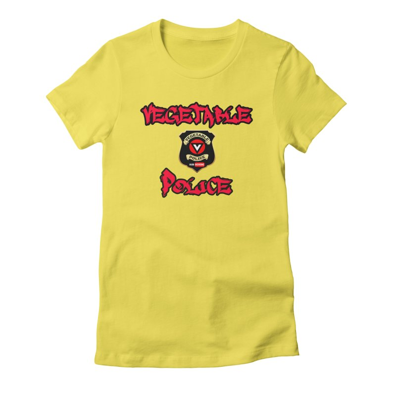 Vegetable Police Undercover (red) Women's T-Shirt by Vegetable Police