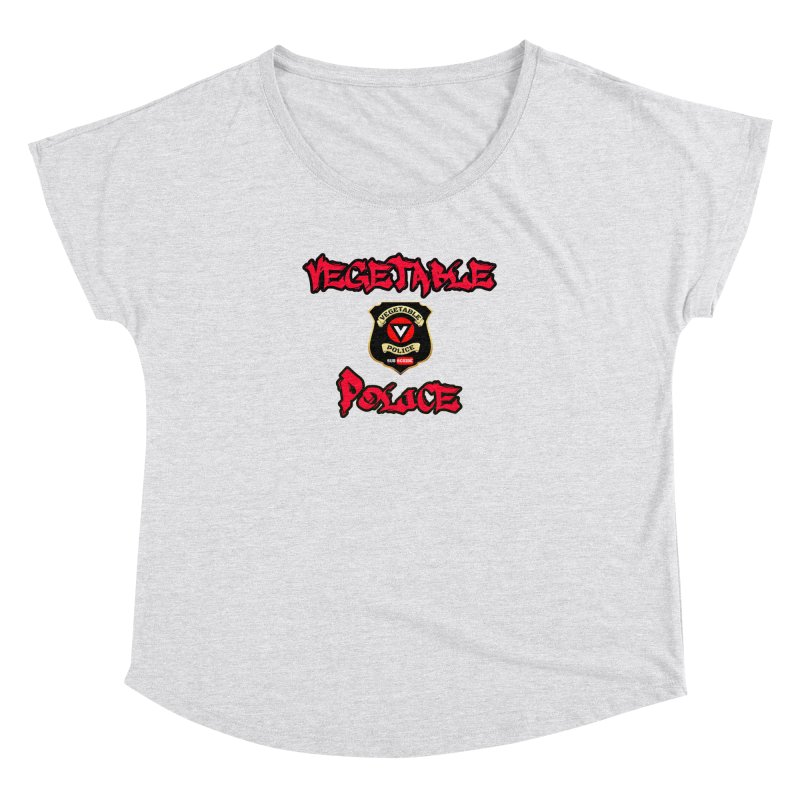 Vegetable Police Undercover (red) Women's Dolman Scoop Neck by Vegetable Police