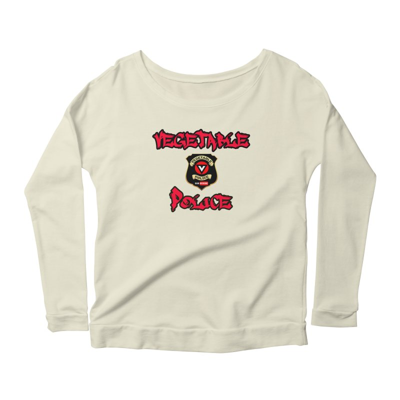 Vegetable Police Undercover (red) Women's Scoop Neck Longsleeve T-Shirt by Vegetable Police