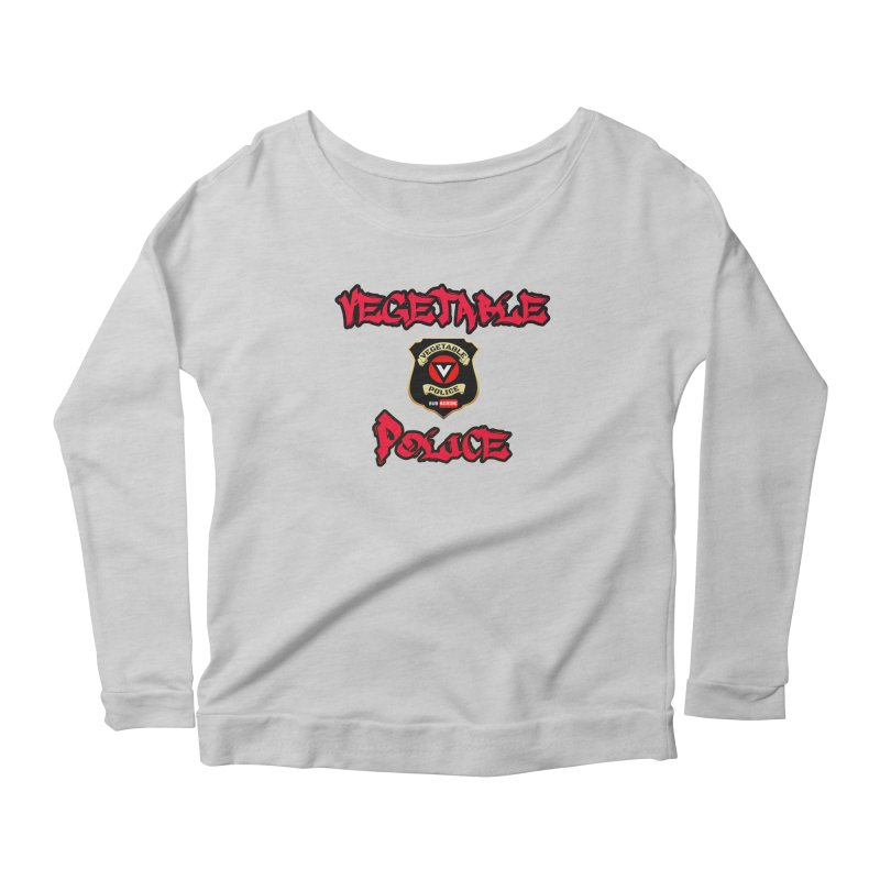 Vegetable Police Undercover (red) Women's Longsleeve Scoopneck  by Vegetable Police