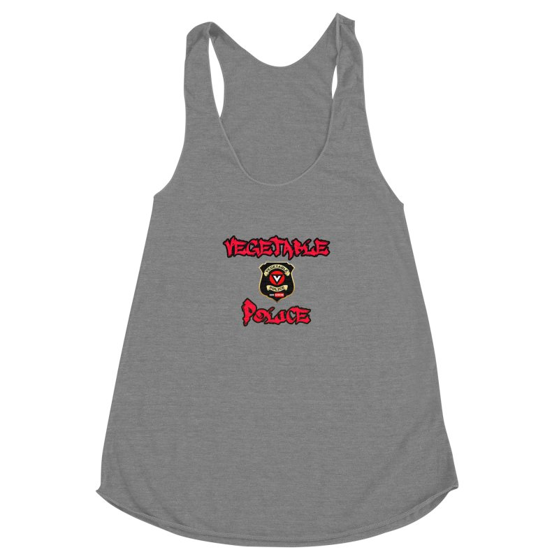 Vegetable Police Undercover (red) Women's Racerback Triblend Tank by Vegetable Police