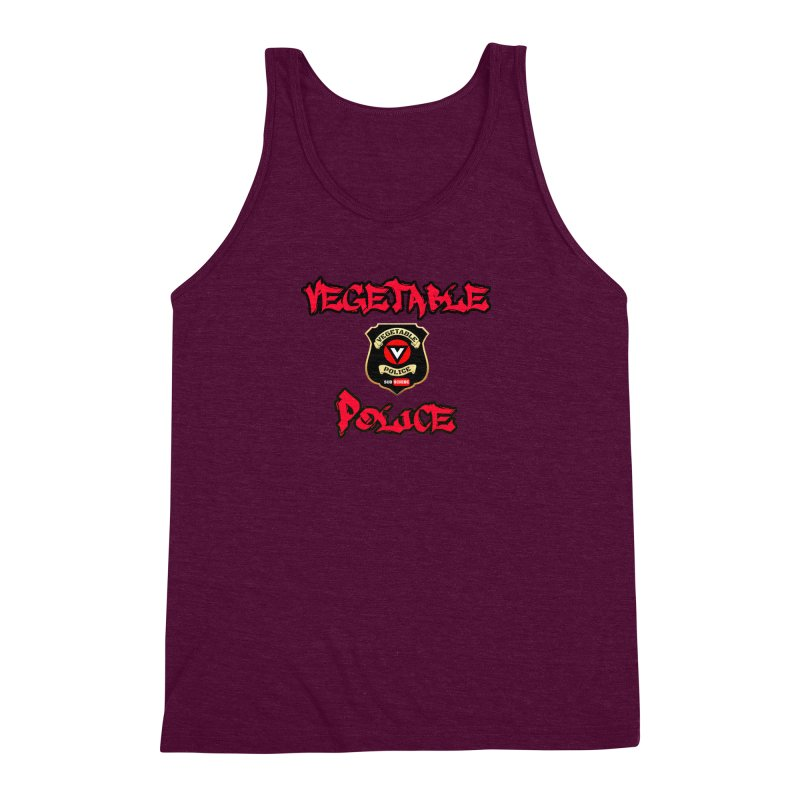 Vegetable Police Undercover (red) Men's Triblend Tank by Vegetable Police