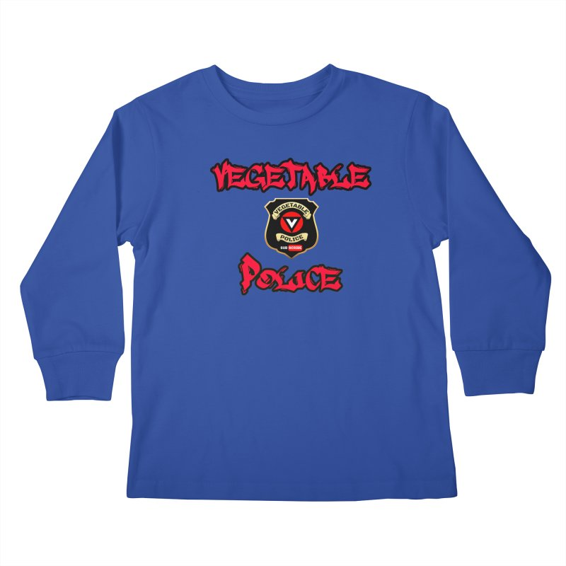 Vegetable Police Undercover (red) Kids Longsleeve T-Shirt by Vegetable Police
