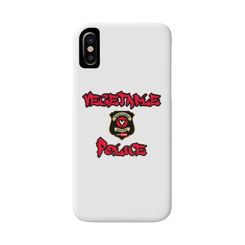 Vegetable Police Undercover (red) Accessories Phone Case by Vegetable Police