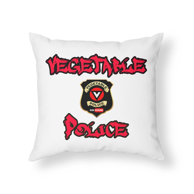 Vegetable Police Undercover (red) Home Throw Pillow by Vegetable Police