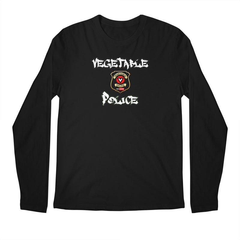 Vegetable Police Undercover (white) Men's Longsleeve T-Shirt by Vegetable Police