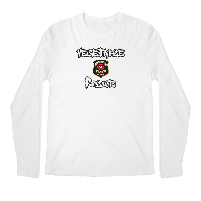 Vegetable Police Undercover (white) Men's Longsleeve T-Shirt by Vegetable Police