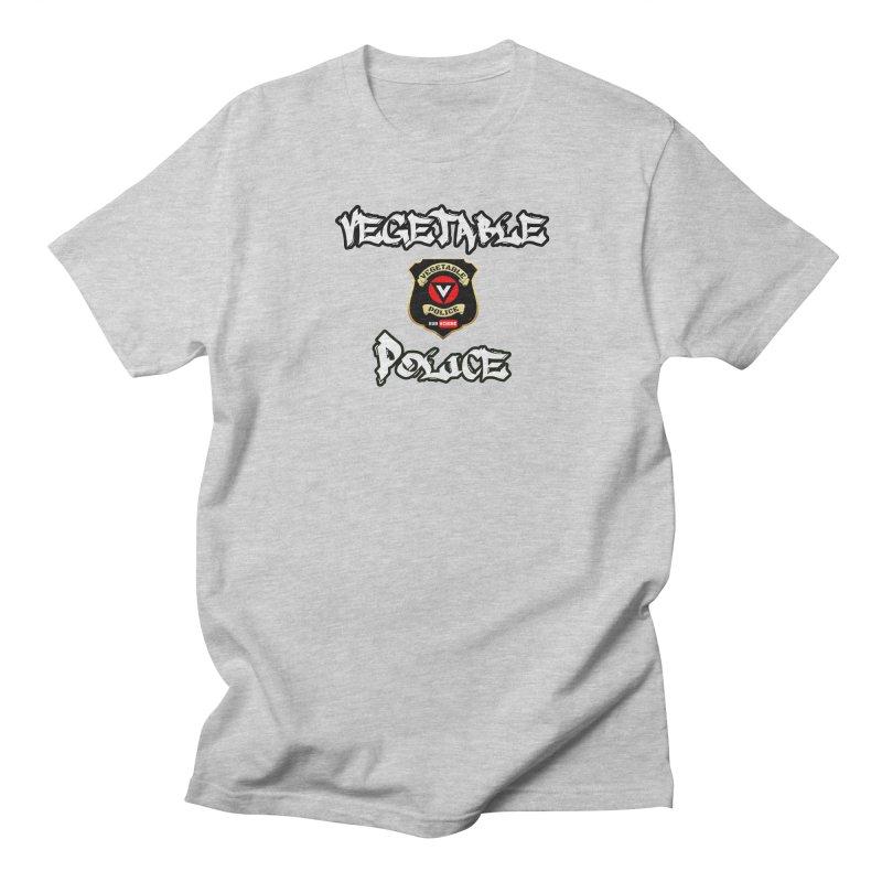 Vegetable Police Undercover (white) Men's T-Shirt by Vegetable Police
