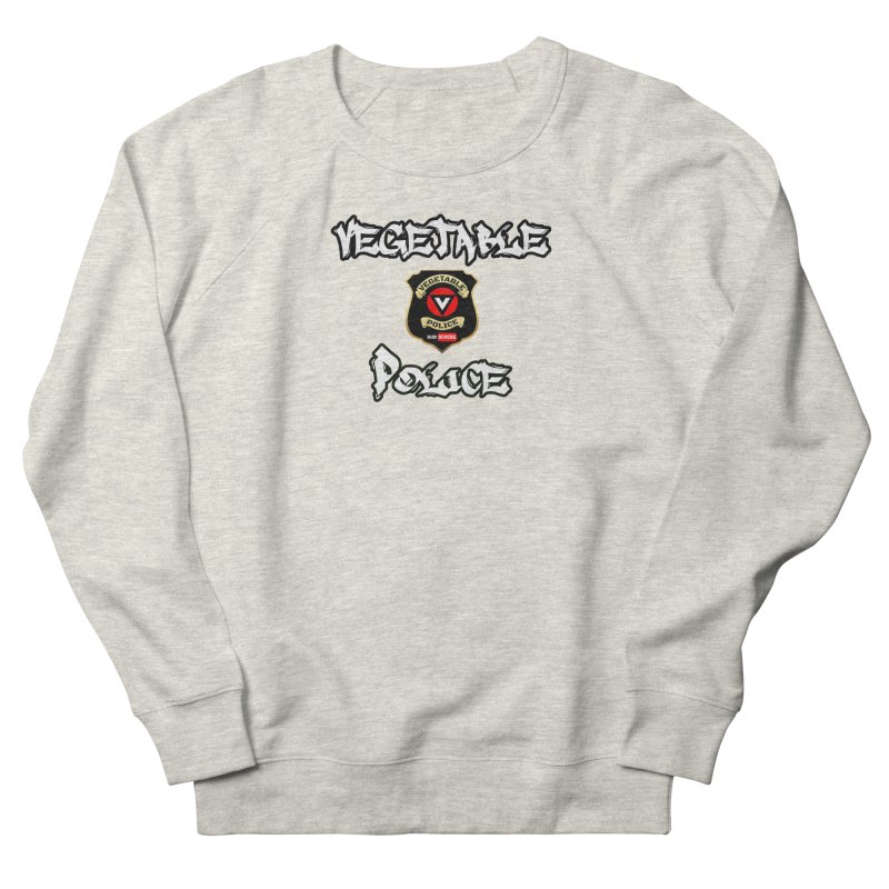 Vegetable Police Undercover (white) Men's Sweatshirt by Vegetable Police