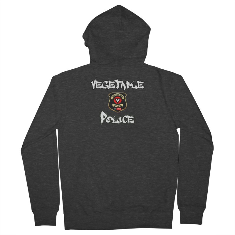 Vegetable Police Undercover (white) Men's French Terry Zip-Up Hoody by Vegetable Police