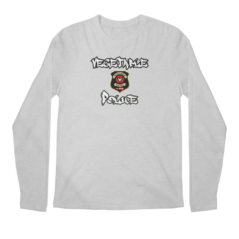 Vegetable Police Undercover (white) Men's Longsleeve T-Shirt by Vegetable Conspiracies